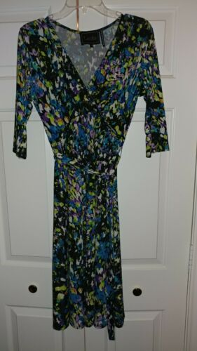 "LEOTA "" BIRDS AND THE BEES "" Dress Medium Made In"