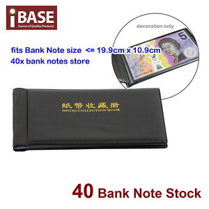 BankNote Album Stock Collection Storage Currency Holder Pocket Coin Paper Money 714439060701