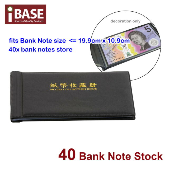 BANK NOTE STOCK COLLECTION COLLECTING ALBUM STORAGE MONEY HOLDER POCKET COIN