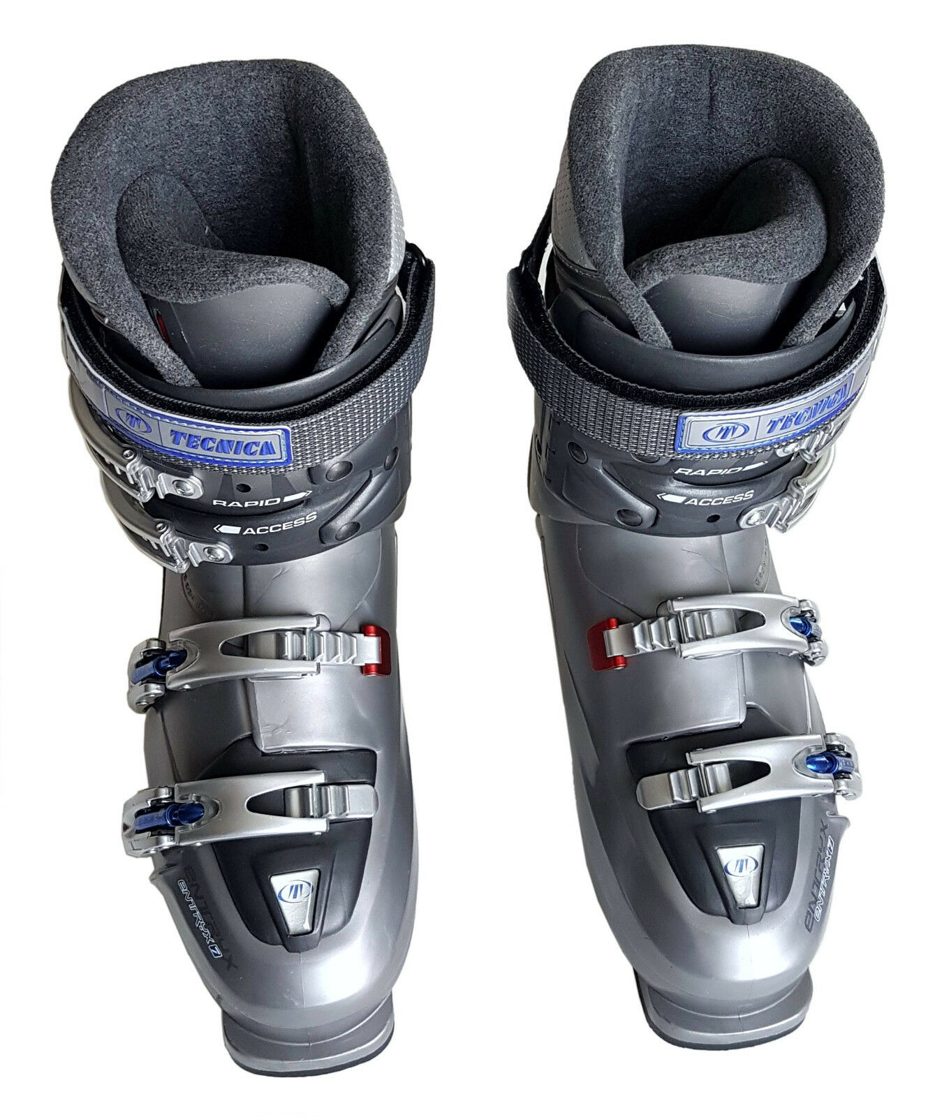 '05 Tecnica EntryX 7 Ladies Comfort Fit Ski Boot 10-10.5 27.0-27.5 Bright Steel