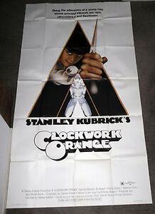 Details About A Clockwork Orange Original Large 3 Sheet Movie Poster Stanley Kubrick 41x81
