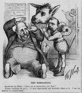 Details About Thomas Nast Donkey Boss Tweed Statue For New York 1871 Antique Nast Donkey