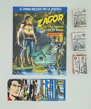 ZAGOR Lo Spirito con la Scure ALBUM VUOTO + SET COMPLETO PANINI FIGURINE CARDS
