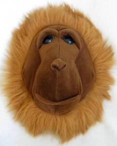 L@@k!! Chimpanzee head Wall Hanging by Beverly Hills Teddy Bear Company New