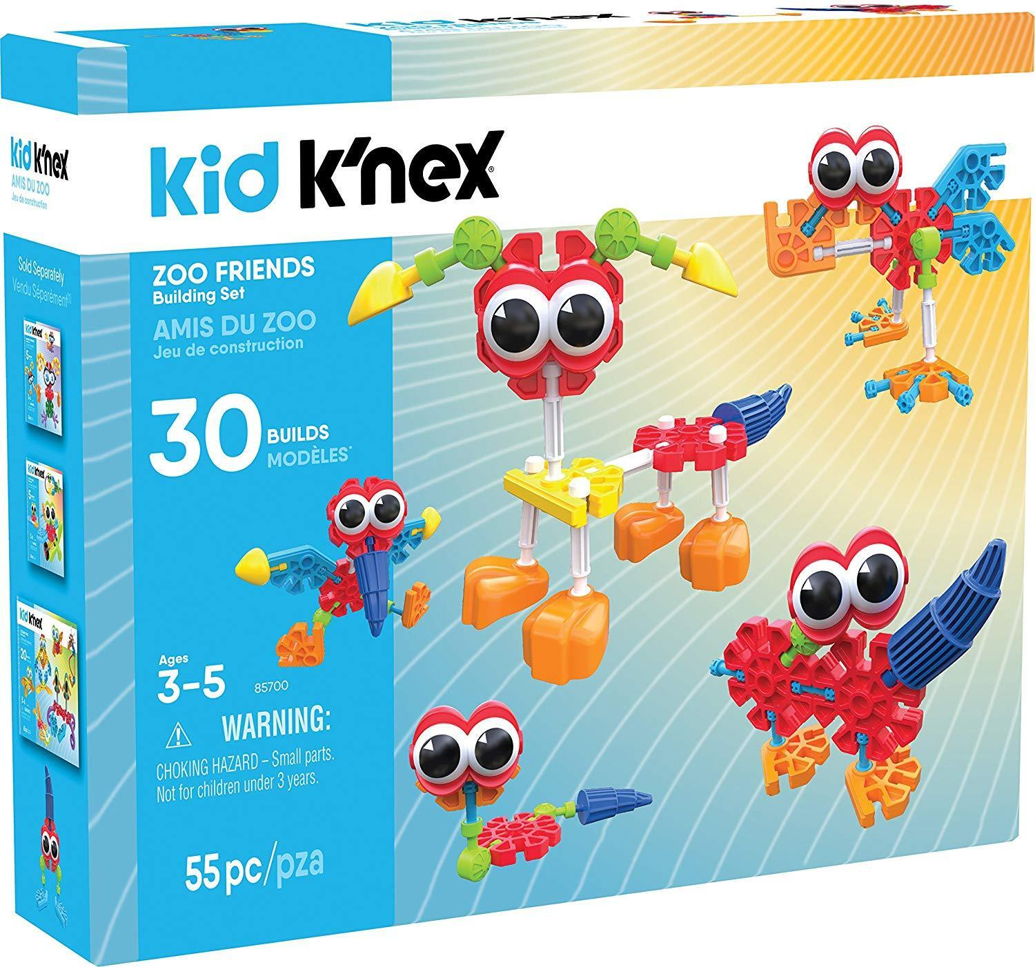 KNEX Kid Zoo Friends Construction Toy Building Ages 3+ New Gift Motor Build Play