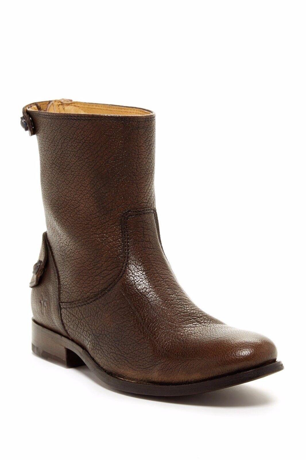 300+ NIB Frye Melissa Button Zip Short Boot, Grau (Braun), Größe 5.5