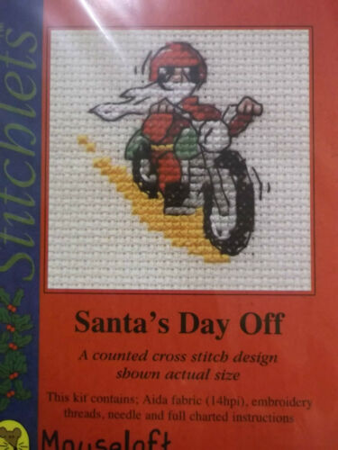 various with card /& envelope Mouseloft Christmas Stitchlets Cross Stitch Kit