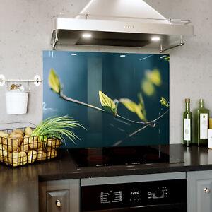 HonnêTe Splashback En Verre Cuisine Cuisinière Printemps Fermer Tree Leaf Bloom Toute Taille 0473-afficher Le Titre D'origine Les Clients D'Abord