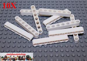 10X-Lego-32524-Technic-Liftarme-Beam-1X7-Weiss-White-NEU