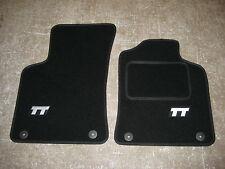 Audi TT ROADSTER Mk1 (1999-2006) Car Mats in Black with TT Logos (Silver)