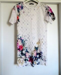 Mainline T Net Slim shirt Flowers Squisito Taglia A Porter Balmain Fit 38 tH5q15wx