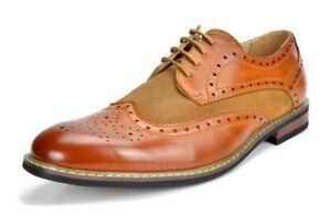 Bruno-Marc-Prince-pour-homme-en-cuir-double-lacets-Wing-Tip-formelle-robe-derbies-chaussures