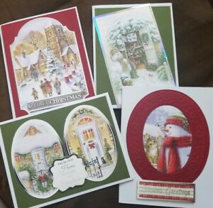 Handmade Christmas Cards #6 Set of 6 with envelopes
