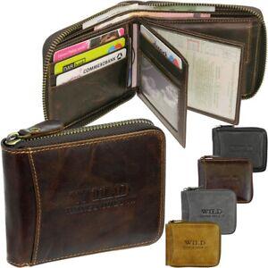 BAG-STREET-Herren-Geldboerse-Leder-Geldbeutel-Portemonnaie-mit-Reissverschluss-NEU