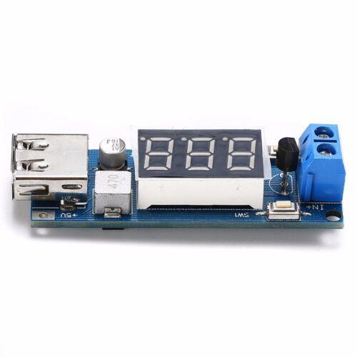 USB DC 4,5V-40V nach 5V 2A Step Down Spannungswandler mit Voltmeter für Arduino