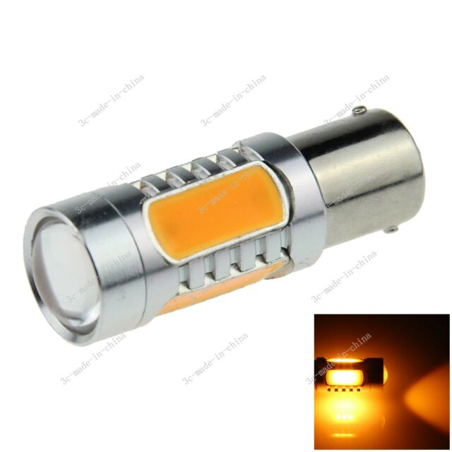 1X Yellow 1156 G18 Ba15s 5 COB LED 7.5W Non-polar AC/DC 12V Light Bulb D024