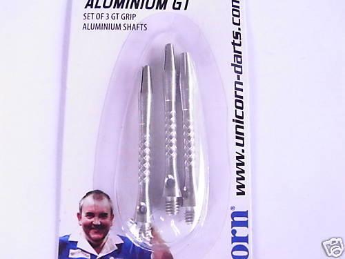 Medium length-Knurled-FREE UK POST-* Unicorn ALUMINIUM GT dart Shafts