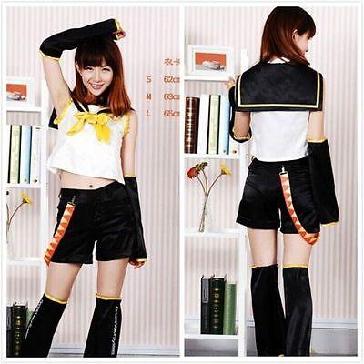 && Anime VOCALOID 2 Vocaloid Kagamine Rin Cosplay Costume &&