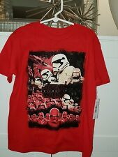 STAR Wars T Shirt Top Nero Argento 2 3 4 5 6 7 8 anni
