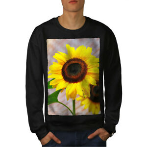 Nature Black Sweatshirt Men New Photo Sunflower qXwgFxZ55