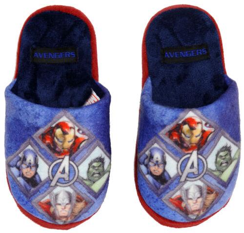 Boys Marvel Avengers Spiderman Mule Slippers Shoe Sizes 9-2 New Gift Antman