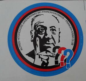 Fan-Aufkleber 3 Question Marks ??? Franckh Krimi Club Hitchcock Radio Play 80er