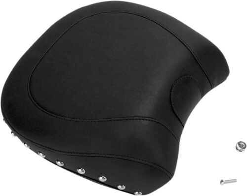 Mustang Wide Touring Studded Recessed Passenger Seat For Harley Davidson Black