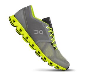 On Cloud X Grey/Neon Cross Trainer Shoe