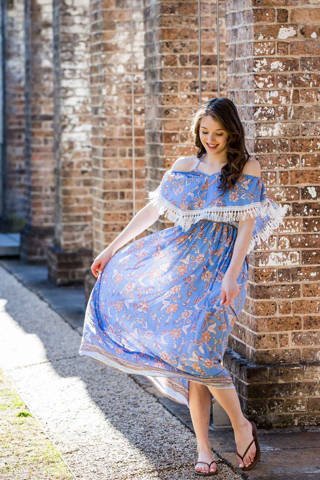 Skys Taking on Rosy Hue Floral Maxi Dress【AU Stock】