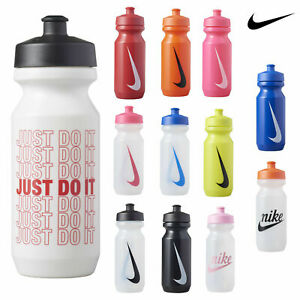Nike-Big-Mouth-Sports-Water-Bottle-Drinking-Gym-Running-Clear-Black-New