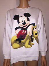 MICKEY UNLIMITED Disney Women's WHITE Vintage VTG Pluto Rare Sweater Top MEDIUM