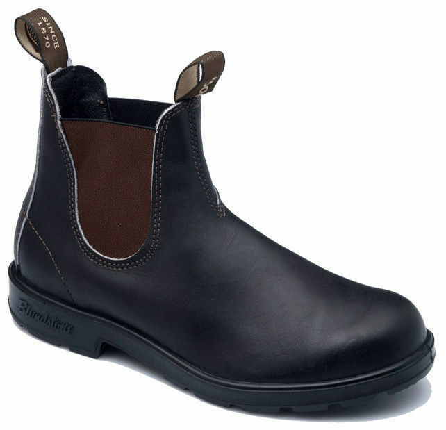 Blundstone 500 Stout Round Toe Braun Premium Leder Classic Stiefel Australia