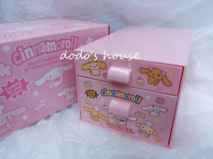 Sanrio Japan Cinnamoroll Plastic Box Drawer Case