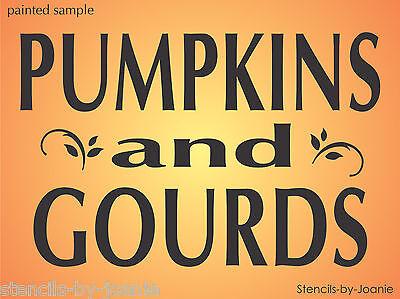 Harvest STENCIL Pumpkins Gourds French Swirl U Paint Market Craft Porch Signs