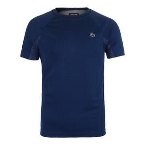 NEW-MENS-LACOSTE-SPORT-NOVAK-DJOKOVIC-SUPPORTER-COLLECTION-BLUE-JERSEY-SHIRT