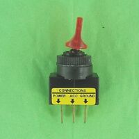 Power Switch 12v Dc Lighted Toggle Arm Spst On-off 20a Amp, Good Snap Action