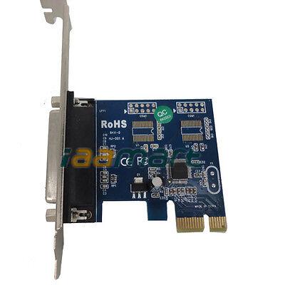 Parallel Port DB25 LPT Printer to PCI-E PCI Express Card Converter Adapter