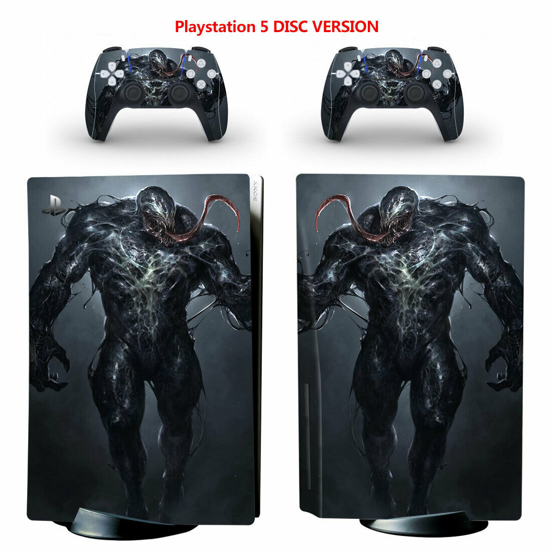 PS5 Disc Skin Sticker for Console Controllers Venom Full Vinyl Cover Faceplate
