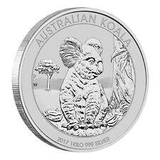 1 Kilo Silber Koala 30 Dollar Australien 2017 Stempelglanz in Münzkapsel