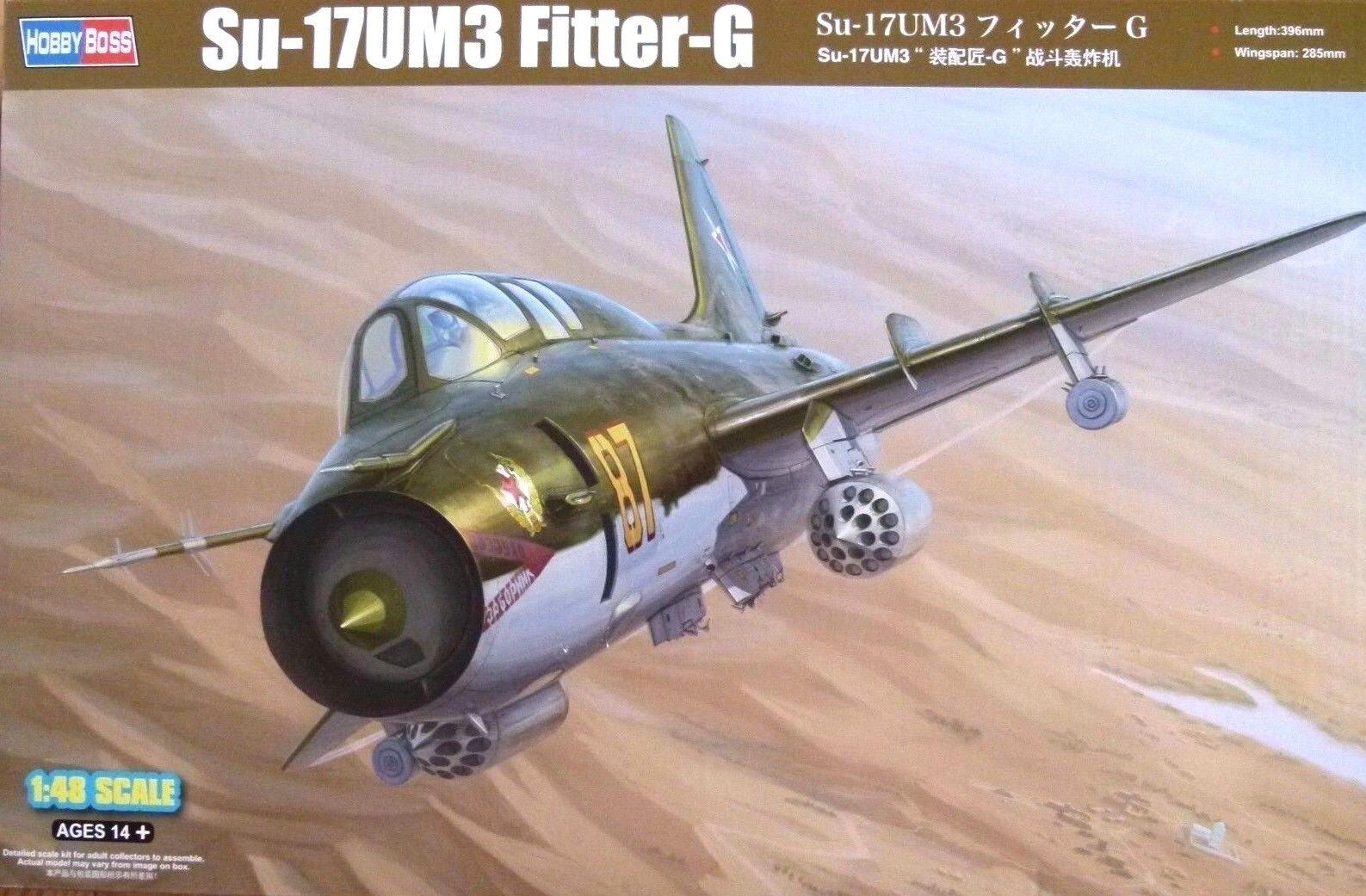 Hobbyboss 1 48 Sukhoi Su-17UM3 Fitter-G Aircraft Model Kit