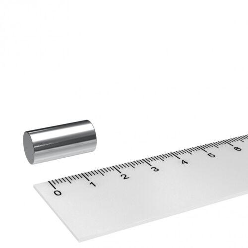 10 STÜCK POWER NEODYM MAGNET 10x20mm VERNICKELT N45 STABMAGNET MEGA STARK
