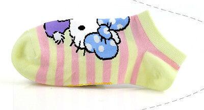 Bello Ragazze Hello Kitty Cotone Trainer Liner Calze/adatto A Età 9-11 Anni * Giallo-mostra Il Titolo Originale