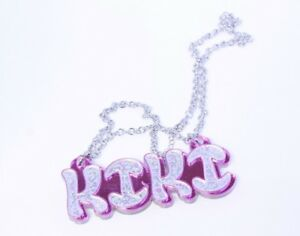 Personalized Name Necklace Custom Made Couples Necklace Acrylic Name Chain