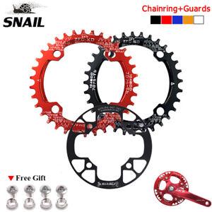 104bcd-round-Oval-MTB-Bike-Chainring-32-34-36-38-40-42T-amp-Manivelle-Chaine-Anneau-Garde