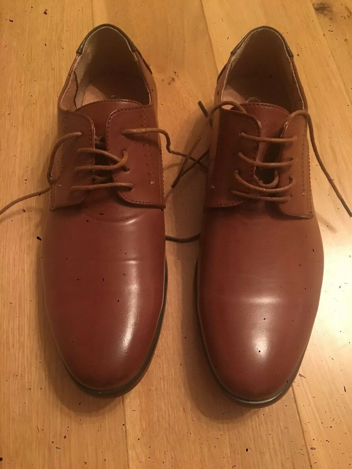 Mens brown leather shoes size 9