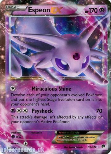 Espeon EX 52//122 BREAKpoint Rare Holo EX Mint Pokemon Card
