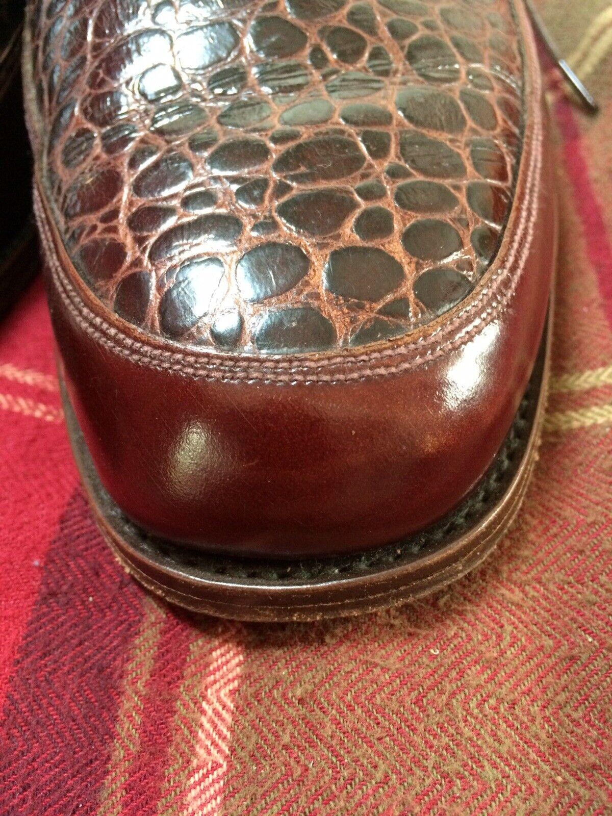 Zapatos masculinos hechos a mano, marrón, Inglaterra 7