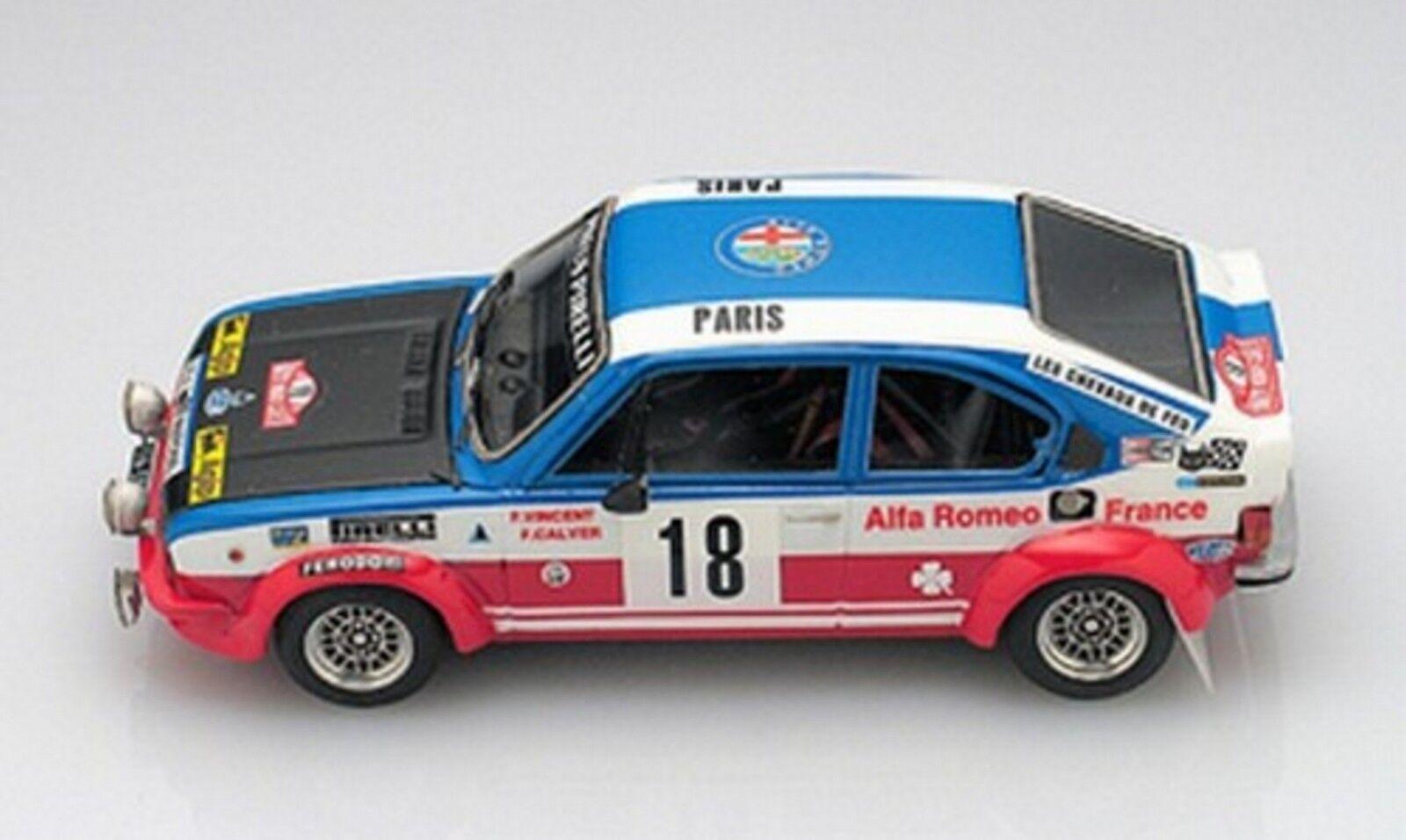 <kit Alfasud TI Gr.2   18 Rally Monte Carlo 1980 - Arena Models kit 1 43