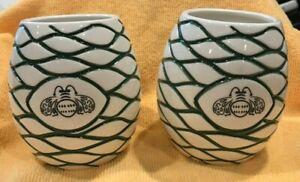 Lot-Of-2-Patron-Tequila-Tiki-Mug-Agave-Ceramic-Cups