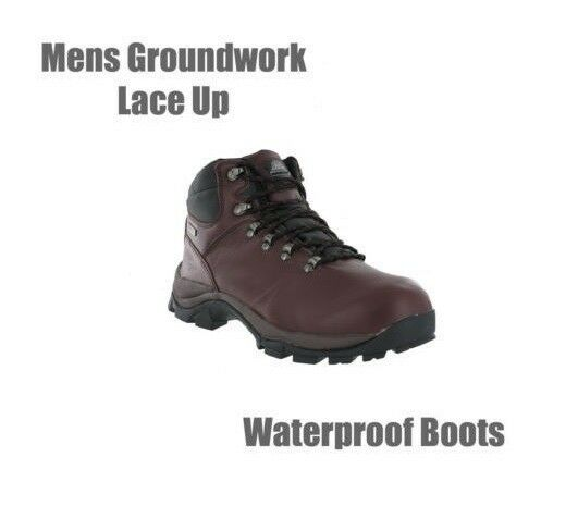 Mens Groundwork Waterproof Full Grain Leather Walking Winter Boots UK7 Last Pair
